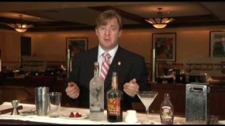 """Chocolate and Raspberry """"Mortini"""" from Morton's The Steakhouse"""