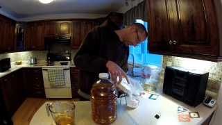 "Home Brewing a basic apple wine/cider ""Inmate Brew"""