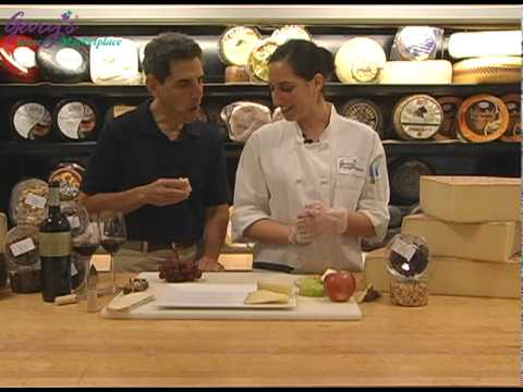 Preparing a Spanish Cheese Platter